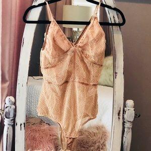 56f492d828bf55 AKIRA Intimates   Sleepwear - AKIRA body suit - lingerie size small nude    pink